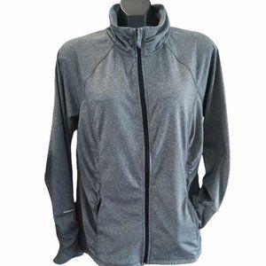 🏃♀️ Hyba Active Athletic Track Jacket zipper pockets